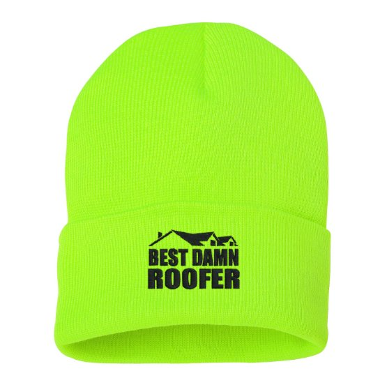 Best Damn Roofer Knitted Toques